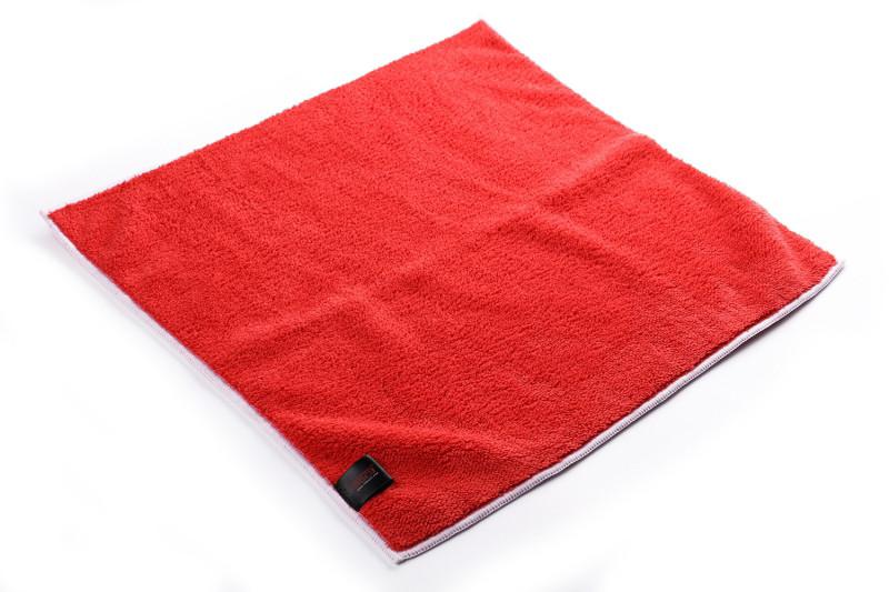 SGCB SGGD124 Microfiber Plush Towel Red Микрофибра для полировки с оверлоком красная 40х40 см