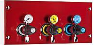 Горизонтальный модуль подачи газа на 3 газа