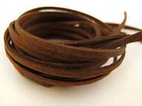 Замшевий шнур 1 м коричневий 1662