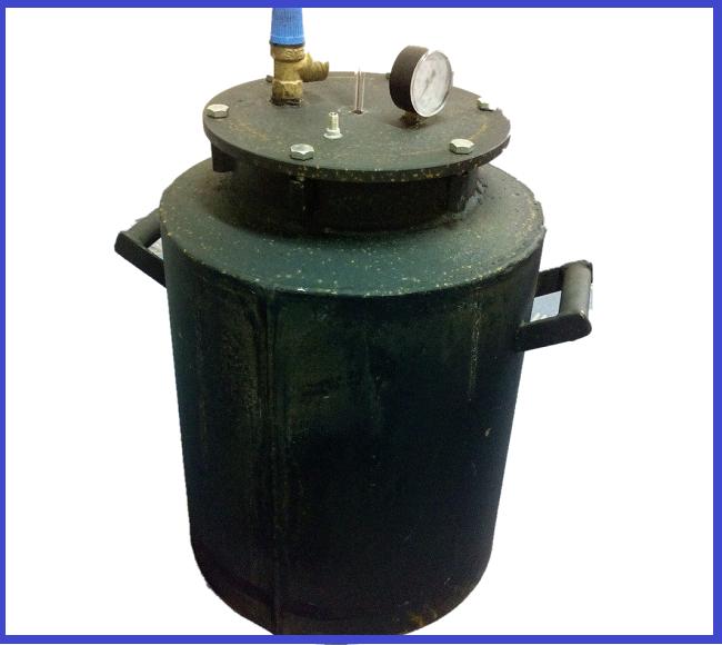 Автоклав Черный большой болты газ (0,5л.-30 шт. 1л-20 шт.)