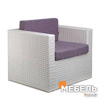 Кресла из искусственного ротангас Франк. Плетенная мебель от производителя, для КаБаРе. Оптом