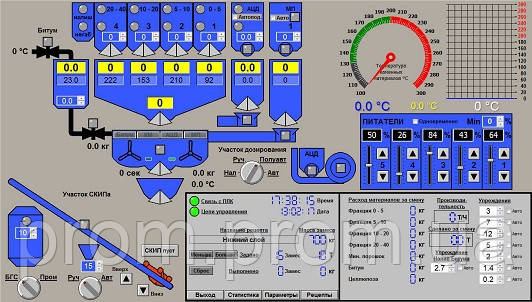 Асфальто Бетонный Завод управление технологическим процессом, фото 2