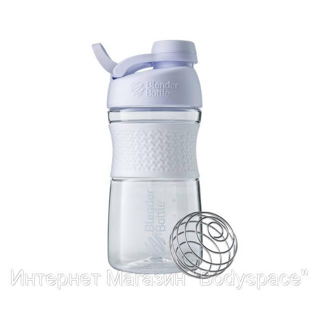 Blender Bottle, Спортивная бутылка-шейкер с венчиком SportMixer Twist 20oz/590ml White