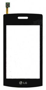 Тачскрин сенсор LG GT500 черный