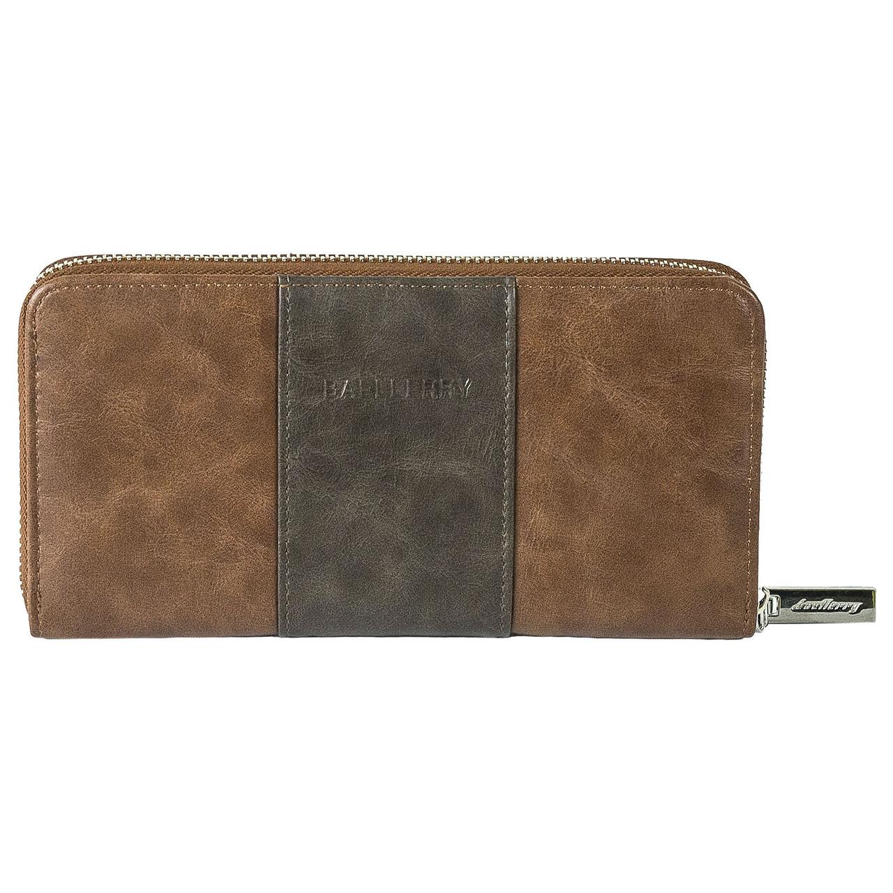 Портмоне, кошелек мужской  Baellerry с защитой RFID коричневый