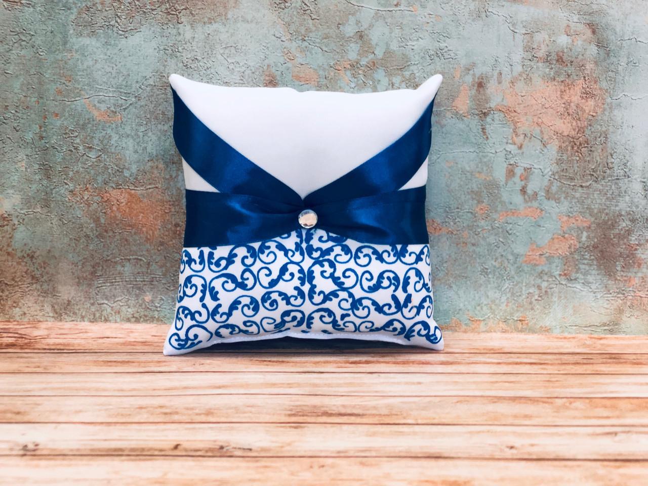 Свадебная подушечка для обручальных колец Bonita синяя (400)
