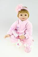 Силіконова Колекційна Лялька Реборн Reborn Дівчинка ( Вінілова Лялька ) Висота 55 див. Арт.11342, фото 1