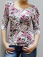 Женская вискозная блузка №507 цветная