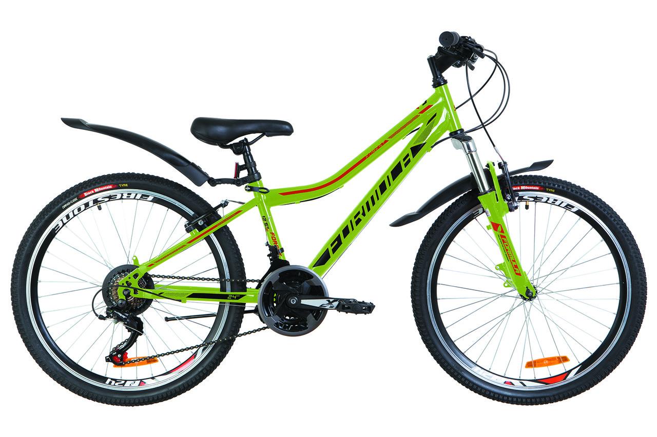 """Велосипед подростковый 24"""" Formula FOREST AM 2019 (зеленый с оранжевым (м))"""
