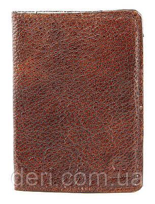 Обложка на паспорт GRANDE PELLE 00231 кожа Коричневая, Коричневый, фото 2