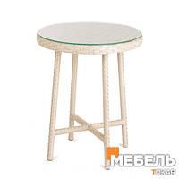 Круглый стол из ротанга, Эспрессо. Мебель из ротанга, столы для кафе, бара, ресторана, террасы, сада