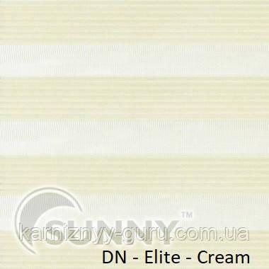 Рулонные шторы для окон День Ночь в закрытой системе Sunny с П-образными направляющими, ткань DN-Elite