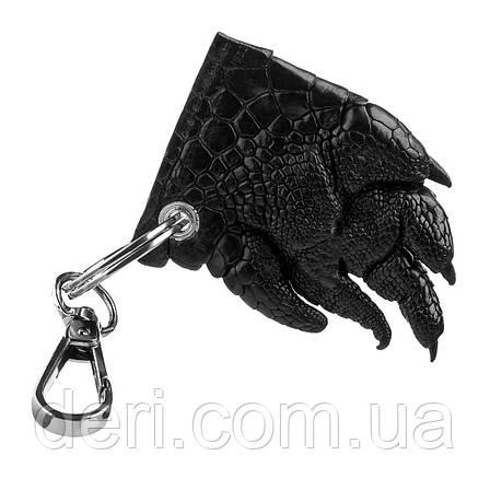 Брелок CROCODILE LEATHER 18241 из натуральной кожи крокодила Черный, Черный, фото 2