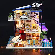 """3D Румбокс """"Будиночок на березі моря"""" - Ляльковий Дім Конструктор / DIY Doll House від CuteBee"""
