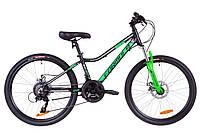 """Велосипед подростковый 24"""" Formula ACID 2.0 DD 2019 (черно-зеленый (м))"""