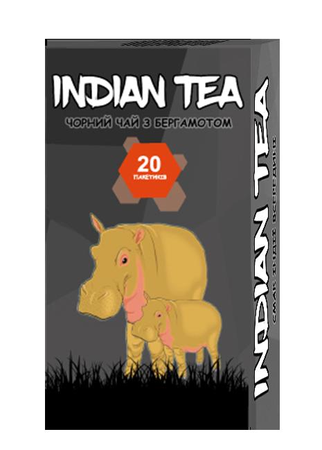 Чай чёрный пакетированный Indian Tea с бергамотом 20 х 1.8 г