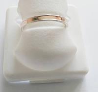 Обручальное серебряное кольцо с золотом 3