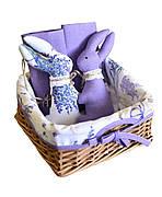 """Подарочный набор к Пасхе """"Лаванда"""" (пасхальный кролик, салфетки, корзинка)"""