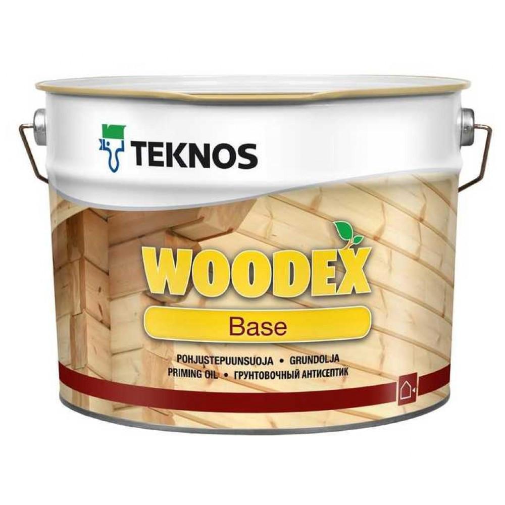 Грунтувальний антисептик для дерева Teknos Woodex Base 9л