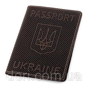 Обложка на паспорт Shvigel 13930 кожаная Коричневая, Коричневый, фото 2