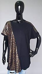 Туника женская большого размера с леопардовым принтом (Турция)