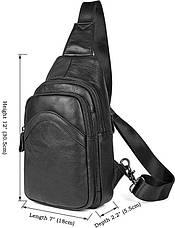 Сумка мужская Vintage 14477 Черная, Черный, фото 2