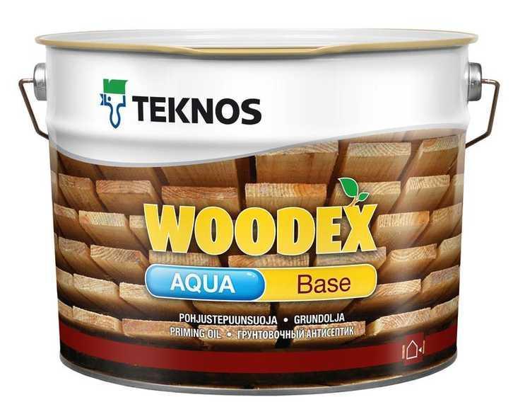 Грунтувальний антисептик для дерева Teknos Woodex Aqua Base 9л