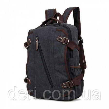 Рюкзак Vintage 14593 Черный, Черный, фото 2