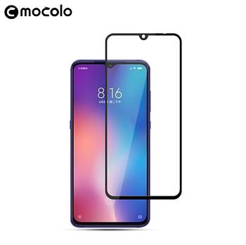 Стекло Mocolo Full Glue для Xiaomi Mi 9 с черной рамкой