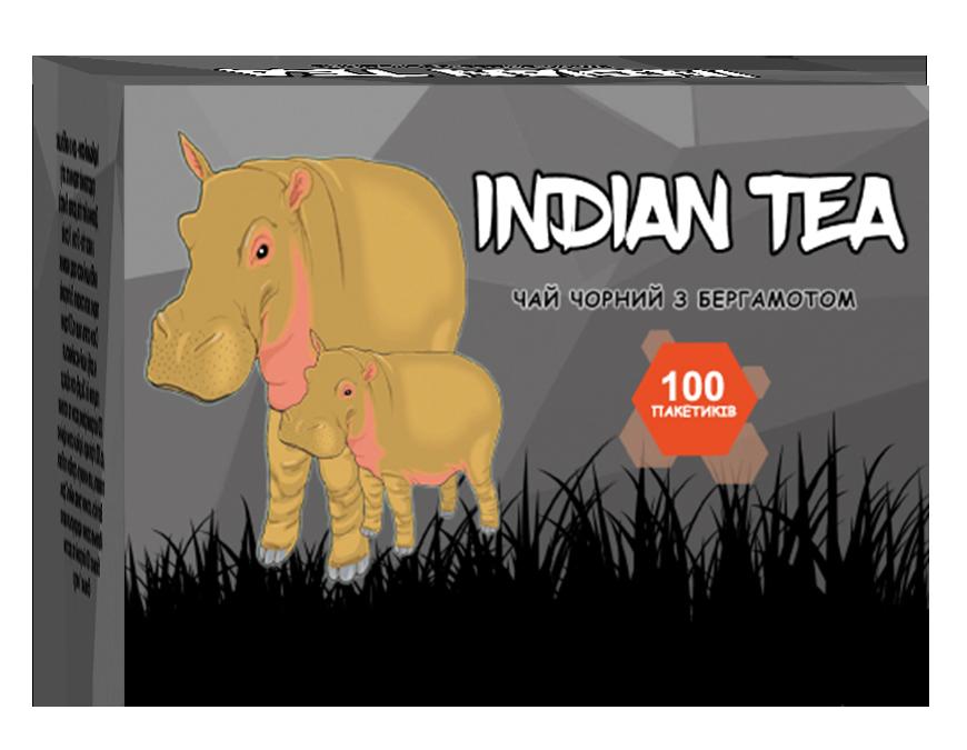 Индийский чай с бергамотом 100 пакетов + ПОДАРОК | Indian Tea чёрный
