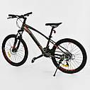"""Детский спортивный велосипед серый CORSO Furious24'' металлическая рама13"""" 21 скорость детям от8 лет, от130 см, фото 2"""