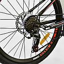 """Детский спортивный велосипед серый CORSO Furious24'' металлическая рама13"""" 21 скорость детям от8 лет, от130 см, фото 7"""