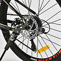 """Детский спортивный велосипед серый CORSO Furious24'' металлическая рама13"""" 21 скорость детям от8 лет, от130 см, фото 8"""