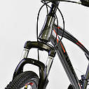"""Детский спортивный велосипед серый CORSO Furious24'' металлическая рама13"""" 21 скорость детям от8 лет, от130 см, фото 4"""