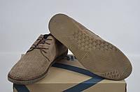 Туфли мужские Affinity 1826-260 бежевые нубук на шнурках, фото 1