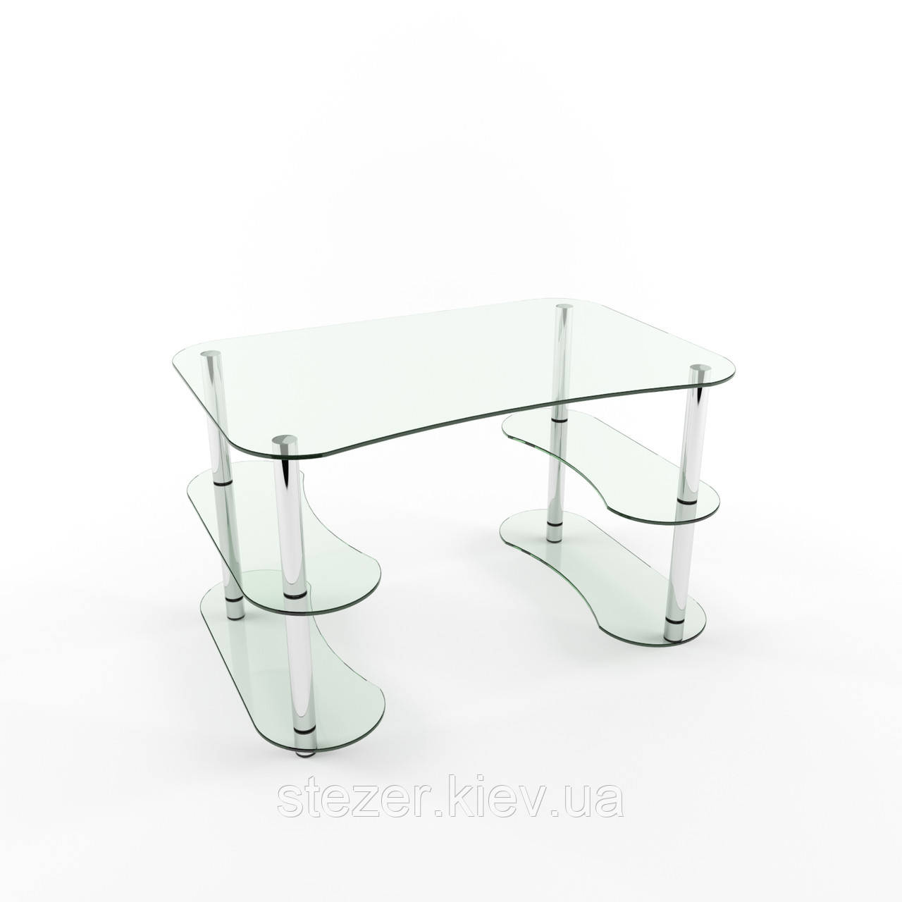 Стеклянный стол для ноутбука Ади