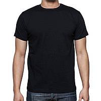 Мужская футболка хлопок EZGI Турция размер XL-70 (50-52) чёрная