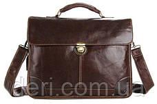 Сумка мужская Vintage 14085 для ноутбука Коричневая, Коричневый, фото 2