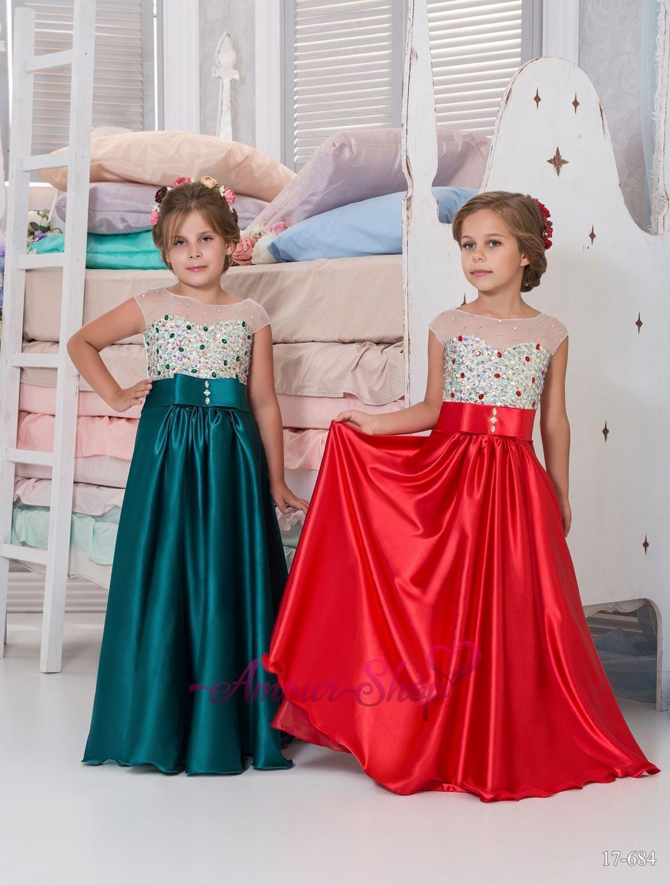 Детское праздничное   платье из  Армани шелка (выпускной, конкурс, фотосессия, день рождения)