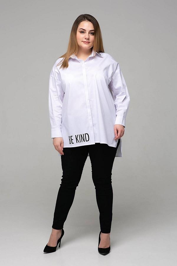 Стильная рубашка с накаткой Зара белая (54-60)