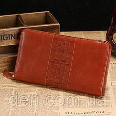 Мужской клатч Vintage 14189 Коричневый, Коричневый, фото 2