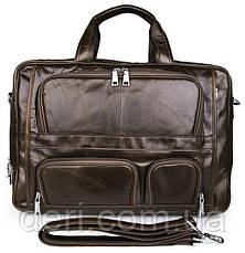 Сумка мужская Vintage 14216 Коричневая, Коричневый, фото 2