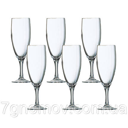 Набор из 6 бокалов для шампанского Luminarc Elegance 170 мл арт. P2505/1, фото 2