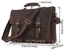 Портфель Vintage 14246 в винтажном стиле Коричневый, Коричневый, фото 2