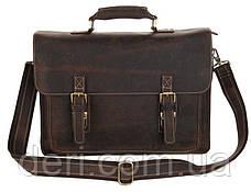 Портфель Vintage 14246 в винтажном стиле Коричневый, Коричневый, фото 3