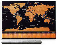 Скретч карта мира в тубусе My Scratch Map, фото 1