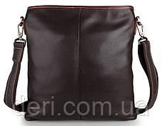 Сумка мужская Vintage 14257 Черная, Коричневый, фото 2