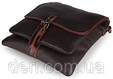 Сумка мужская Vintage 14257 Черная, Коричневый, фото 3