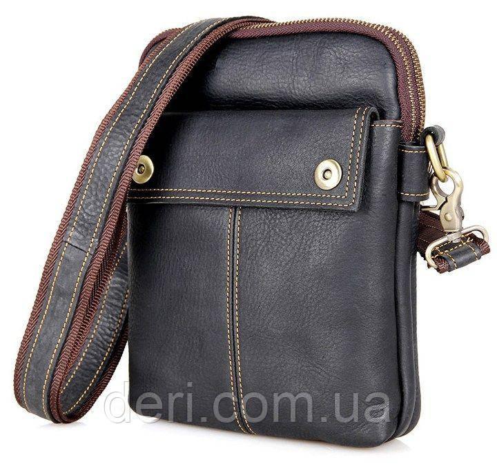 Сумка мужская Vintage 14408 Черная, Черный