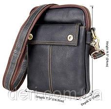 Сумка мужская Vintage 14408 Черная, Черный, фото 2